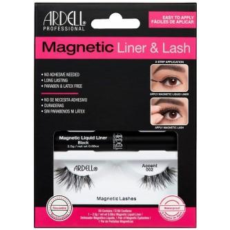 Gene False Magnetice Ardell Accent 002 + Eyeliner gel